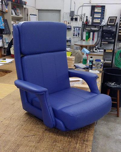 recovering helm chair