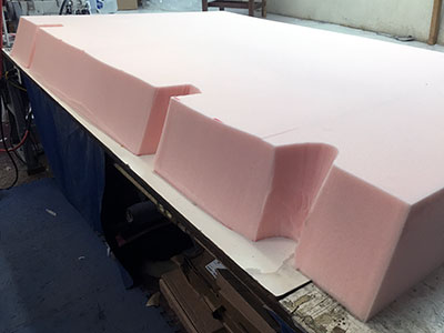 foam cut to fit hull