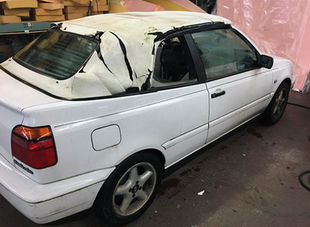 New Top For VW Cabrio Convertible