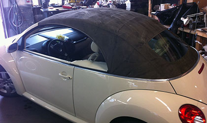 old VW convertible top
