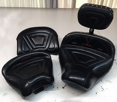 recovered motorcycle seat