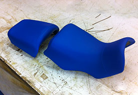 torn BMW GS seat