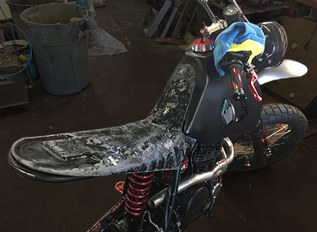 custom dirt bike seat