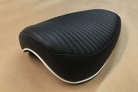 reupholstered motorcycle seat