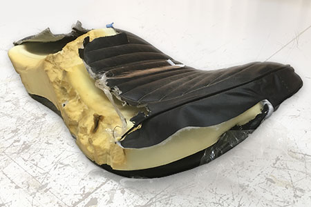 damaged harley seat