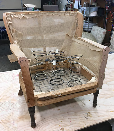 channel back chair repair
