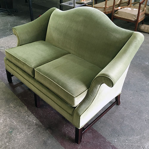 restore green couch