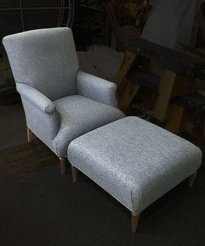 reupholster wing back chair