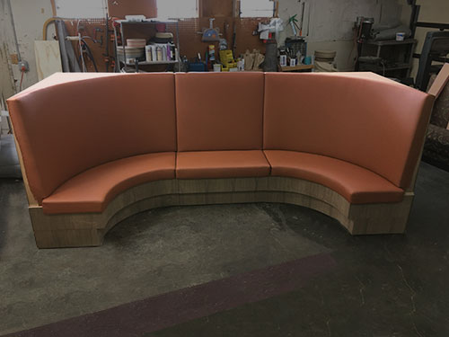 office booth upholstery