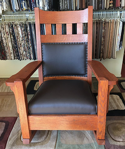 restored crafctsman rocking chair