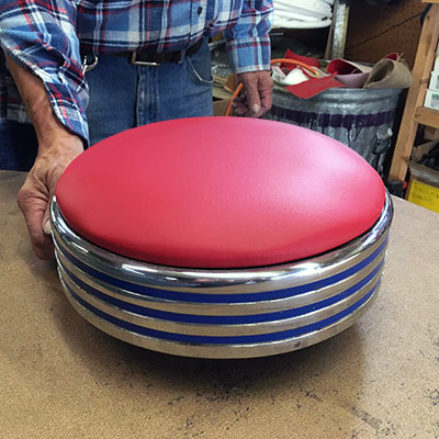 repaired diner stool