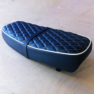 restored motorcycle seat